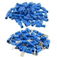50pair Fully Insulated Spade Crimp Wire Cable Connector Terminal Female Male Kit