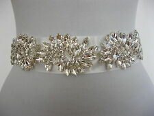 Rhinestone Applique Wedding Sash Ivory Bridal Sash Belt Dress Sophie