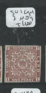NEWFOUNDLAND  (P2407B) HERALDIC ROSE 1D  SG 1  MOG  COPY 2