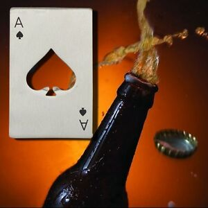 1Pcs Playing Card Bottle Soda Beer Cap Opener Ace of Spades Poker Home Bar Tool