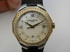 BAUME MERCIER RIVIERA DIAMOND 18K GOLD / STAINLESS STEEL 28MM WOMEN'S DATE WATCH