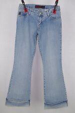 Mudd Jeans Juniors Light Wash Cuffed Flare Jeans Size 3