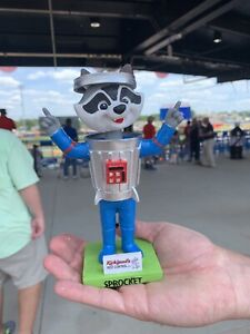 RARE Rocket City Trash Panda Sprocket Bobblehead Angels Huntsville SGA