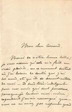 Julien VIAUD dit Pierre LOTI.  Lettre autographe signée.