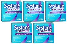 5 Pack Systane Lid Wipes Eyelid Cleansing Wipes 30 Count Each