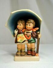 """Vintage Goebel 85 Hummel 4 3/4"""" Figurine Stormy Weather Children Under Umbrella"""