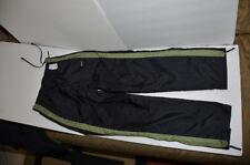 Nike New Women's Athletic Training Pants Black w/Green Band Size 8-10