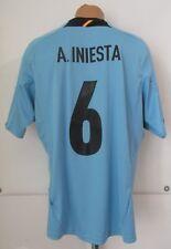 SPAIN EURO 2012/2013 AWAY SHIRT SOCCER JERSEY CAMISETA #6 INIESTA ADIDAS FCB XL