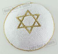 Kippa crochetée étoile de David DOREE ethnique traditionel yarmoulke juif yamaka