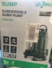 Zoeller Submersible Sump Pump 12 Hp 80 Gpm 1096 Cast Iron D3 5184