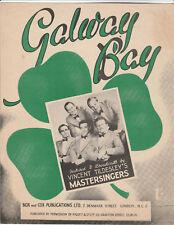 Original VINCENT TILDESLEY'S MASTERSINGERS Sheet Music GALWAY BAY (1947)