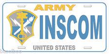 Army INSCOM Novelty Car License Plate