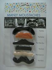 Fake Moustaches Fancy Dress Novelty Joke 6 Designs