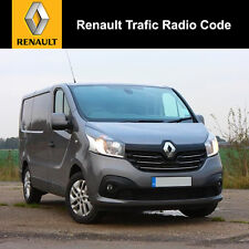 Renault Trafic Radio Code Stereo Decode Car Unlock Fast Service UK All Vehicles