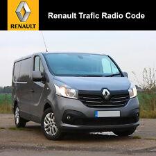 Renault Trafic Radio Code Stereo Decode Car Unlock Fast Service UK All Vehicles