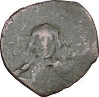 JESUS CHRIST Class E Anonymous Ancient 1059AD Byzantine Follis Coin i48442