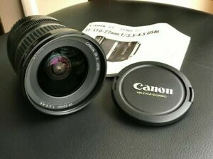 Canon EF-S 10-22mm f/3.5-4.5 USM wide angle lens - as new