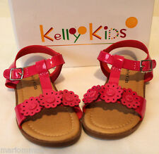 New In Box Kelly'S Kids Pretty Fuchsia Floral Sissy Sandal Toddler size 7
