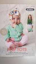 Patons Pattern Book #1103 Pop Tots 10 Designs for Babies & Kids to Knit