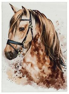 Kinderteppich Teppich Pferdemotiv wunderschön verschiedene Größen Nr. 236