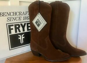 NIB FRYE NEW Sacha Tall Brown Oiled Suede Leather Western Boot 8