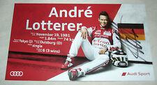Le Mans 2015 - FIA WEC - Audi R18 #7 - Andre Lotterer 3RD In LMP1 Signed Card