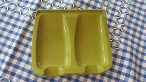 Vintage Tupperware green Spoon Rest