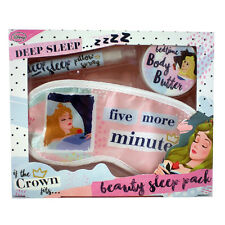 DISNEY PRINCESS BEAUTY SLEEP PACK EYE MASK PILLOW SPRAY BODY BUTTER 3PC GIFT SET