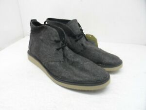 Toms Men's Mateo Lace-Up Chukka Casual Boots 10009184 Black/Grey Size 10.5M