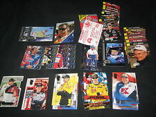 LOT (28+) ASSORTED RACE CAR STARS LEGENDS GENUINE AUTHENTIC COLLECTIBLE CARDS