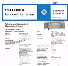 Telefunken Bayreuth 101 wie Opus Studio 2650 HiFi Schaltplan 10 Seiten Original
