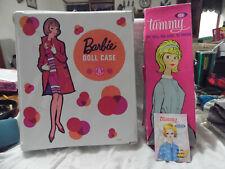 Vintage Barbie Doll Trunk Case Wardrobe Tammy Box Brochure Accesories Lot