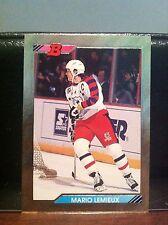 1992-93 Bowman Gold Foil Mario Lemieux Parallel Insert Card #233