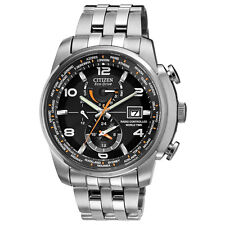 Citizen AT9010-52E Men's World Time A-T Eco-Drive Radio Controlled Steel Watch