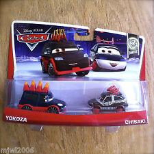Disney PIXAR Cars YOKOZA & CHISAKI on 2013 TUNERS THEME CARD 2-PACK 6/10 7/10