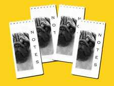Pug Dog Pack of 4 Small Slim Note Pads Gift Set