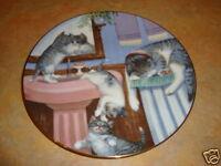 Mischief Makers Hamilton country kitties plate CAT