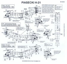 Berna Decals 1/48 PIASECKI H-21 Helicopter in French Service