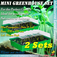 2 Sets Mini Propagator Hydroponics Seedling Clone Propagation Kit Grow Tray Dome