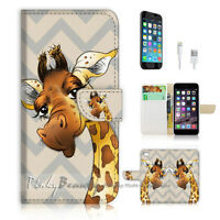 ( For iPhone 6 6S ) Wallet Case Cover  P1743 Giraffe
