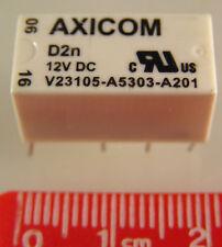 Genuine AXICOM V23105-A5303-A201 Signal Relay DPDT 12VDC 3A Non Latching OLA1-03