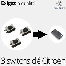 3 X Switch pour clé télécommande Peugeot  307, 308CC, Expert 3, RCZ - SW04
