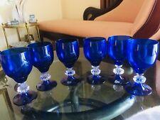 🔴 6 Calici bicchieri acqua Murano orig NASON MORETTI anni 70 Stile Veneziano