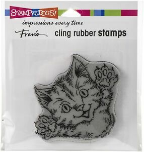 Stampendous Cling Stamp-Cat Attack