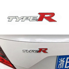 White Red TYPE R Logo Car Fender Rear Trunk Lid Emblem Badge Fit for Acura K