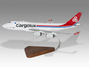 Boeing 747-400F Cargolux Airlines Solid Mahogany Wood Handcrafted Display Model