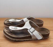 Birkenstock Gizeh sandals size 36 UK 3.5 white thong toe post