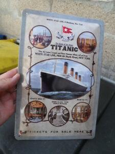 Déco marine collection plaque tole bombée decor bateau White Star Line TITANIC