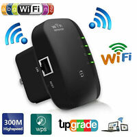 300Mbps Wireless-N AP Range 802.11 Wifi Repeater Signal Extender Booster (BLACK)