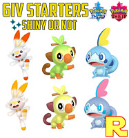 ALL GALAR STARTERS ⚔️ 6IV SHINY / ULTRA OR NOT 🛡 POKEMON SWORD & SHIELD